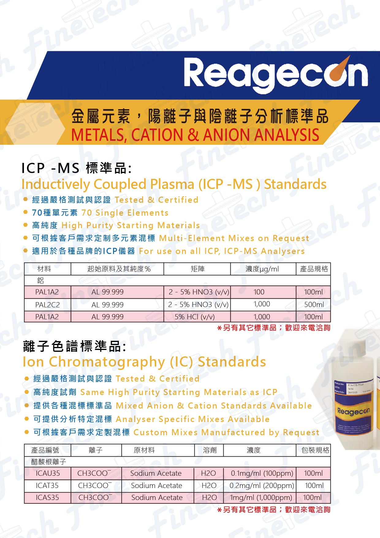 金屬元素離子分析標準品-DM-01