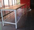 鋼管大型木質桌