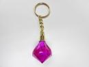鑽石型造型鑰匙圈(紫)
