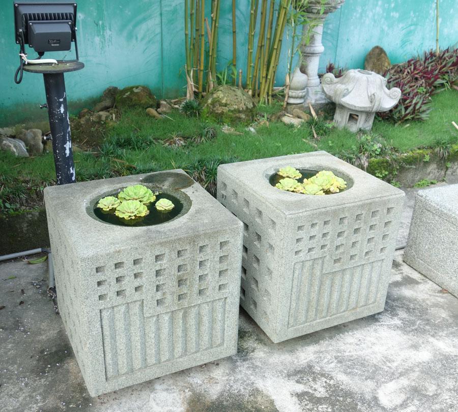 日式庭園石盆