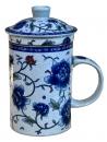 牡丹三件濾茶杯