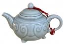 龍泉釉如意壺