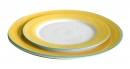 色釉邊平盤 -黃