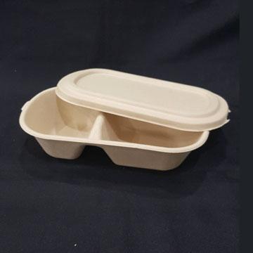 雙格植纖餐盒-1號T扣 800CC