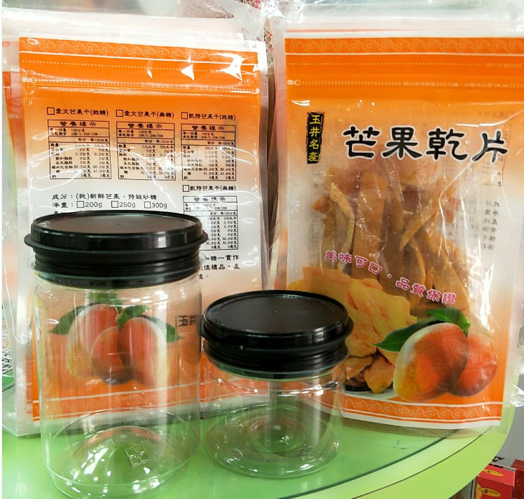 芒果乾片夾鏈立袋(半斤)