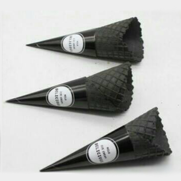 小三角甜筒紙-黑色(圓錐型紙套)