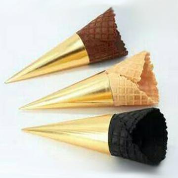 小三角甜筒紙-金色(圓錐型紙套)