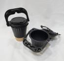二合一塑膠手提杯套蓋(黑)