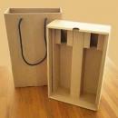 瓦楞雙瓶酒盒(抽屜式)