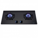 RB-N212G(B)雙口內焰玻璃檯面爐(鑄鐵爐架)(黑色)(LED)