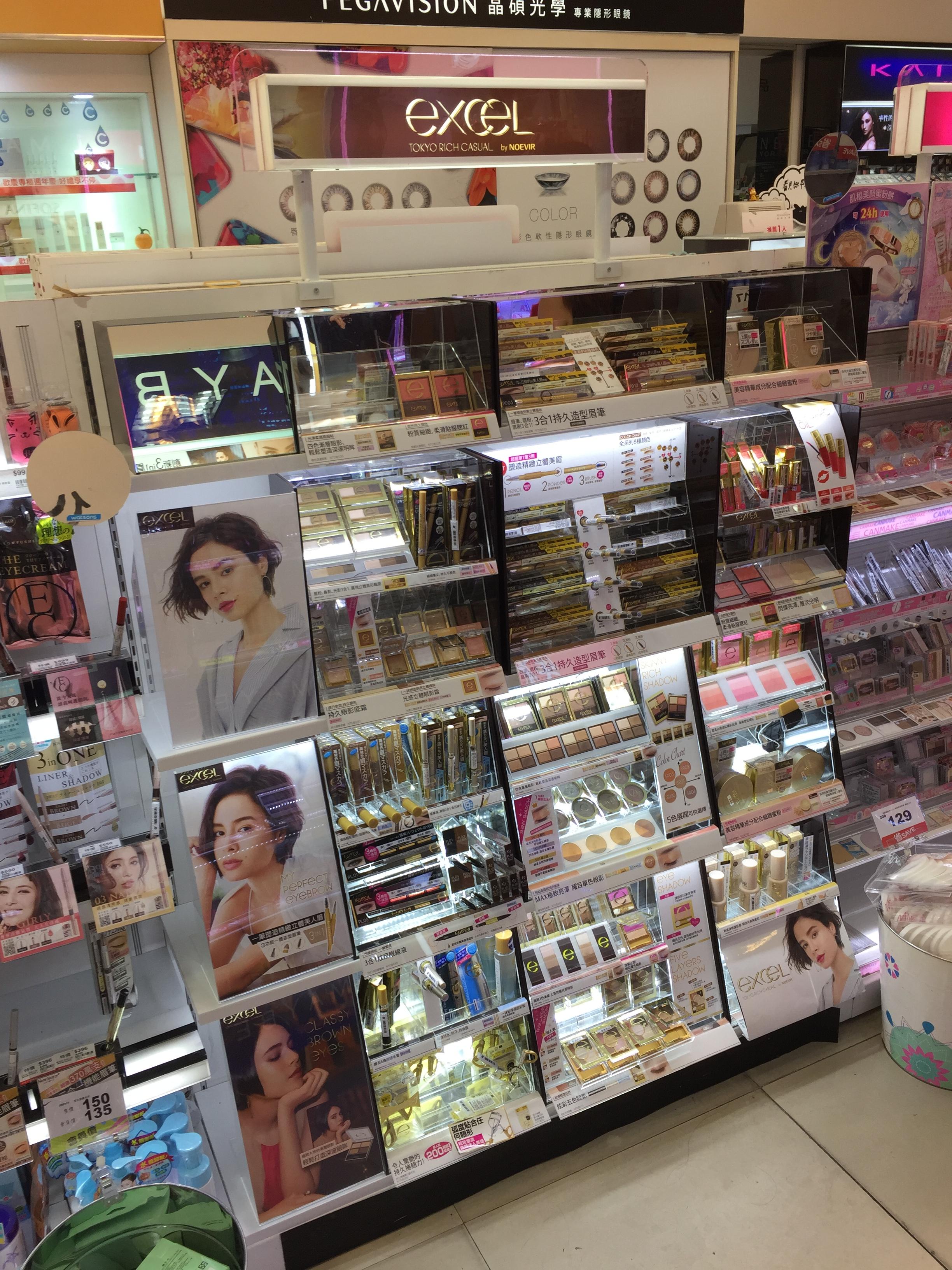 excel-彩妝品之壁櫃式展示架