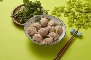 香草鮭魚丸