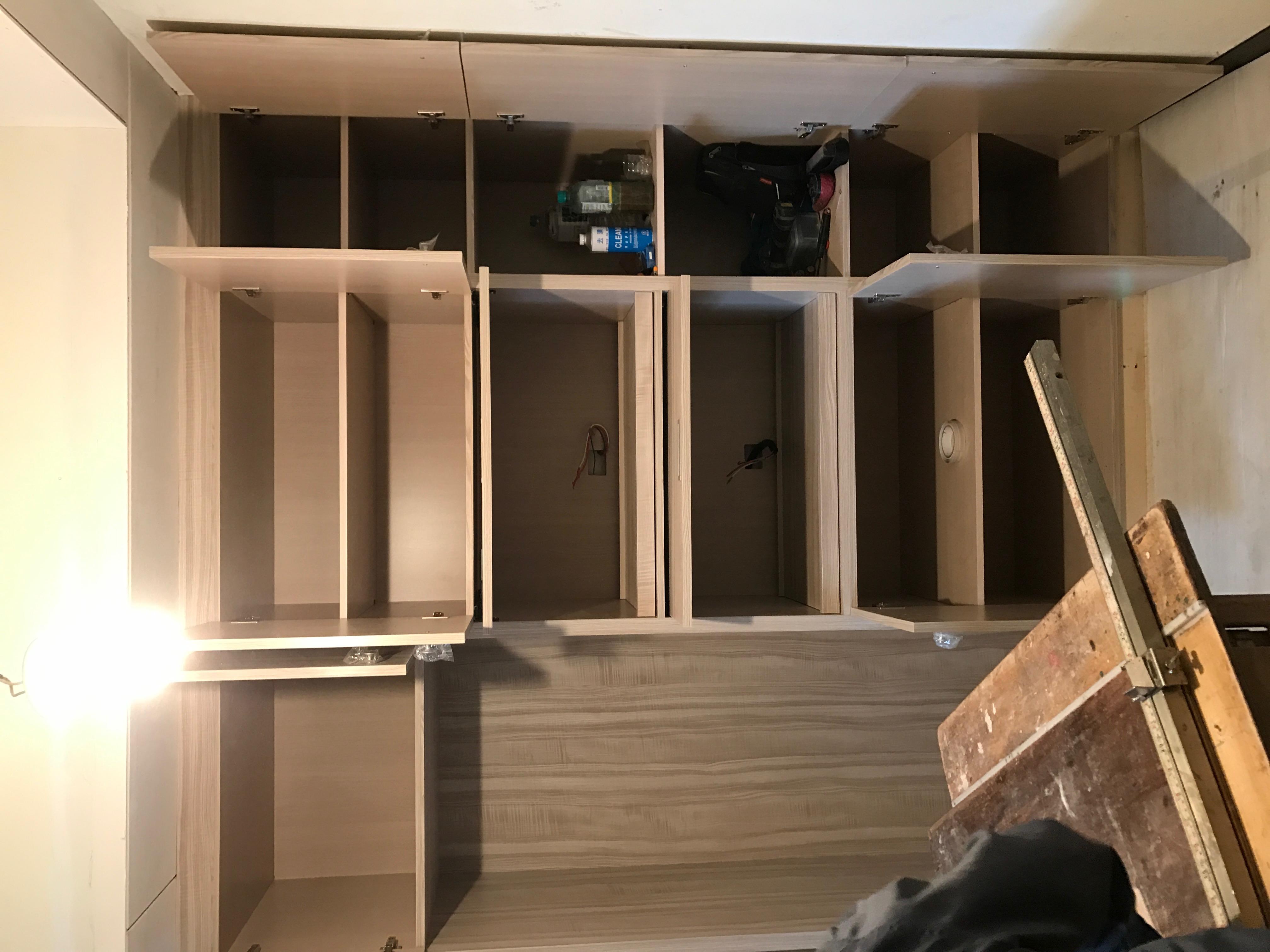 台北市住家室內裝潢衣櫃系統櫃木工 (12)