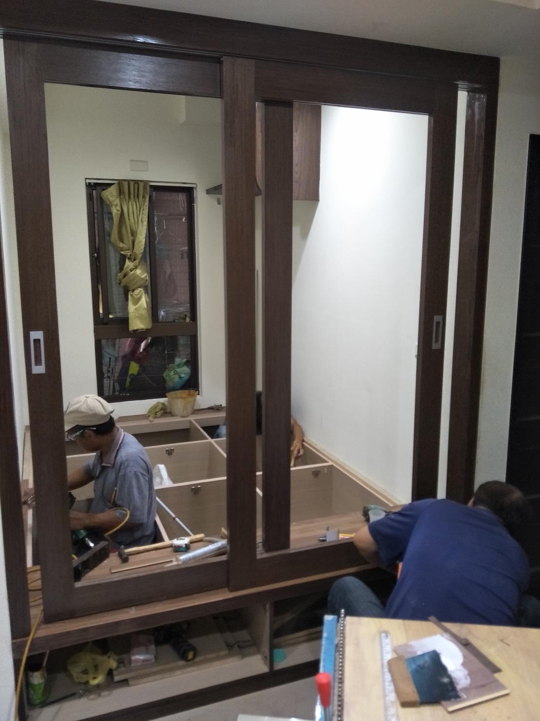 台北市住家室內裝潢衣櫃系統櫃木工 (37)