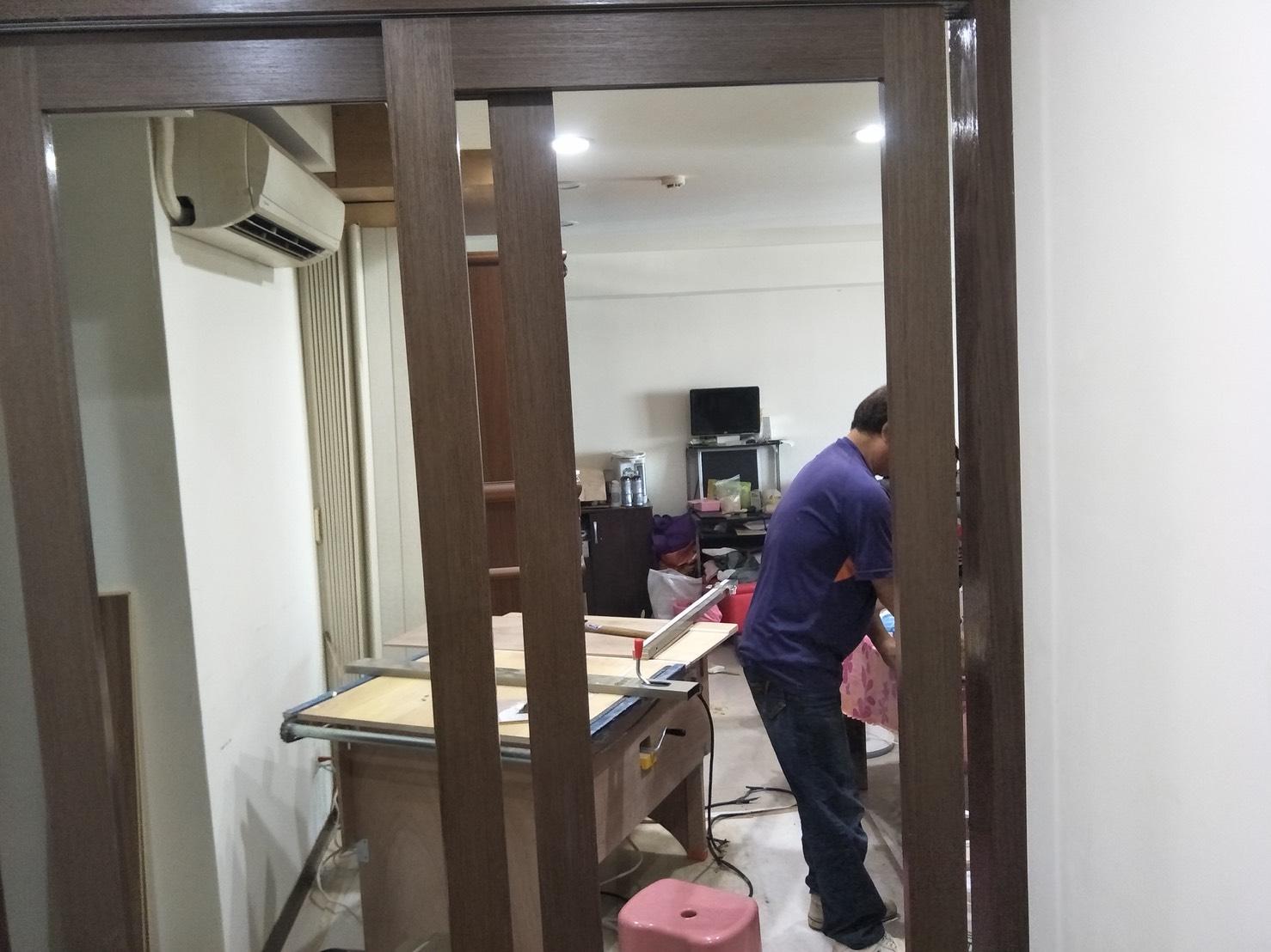 台北市住家室內裝潢衣櫃系統櫃木工 (38)