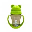 韓國 朴蜜兒 Pomier - 韓製 HAPPYLAND Tritan 防脹氣十字孔自動果汁杯-綠色-200mL