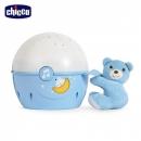 【chicco】Next 2 Me專用星星投射晚安熊-粉藍