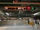 高雄國泰建設大樓停車場指示牌-LED燈壓克力雕刻希得紙