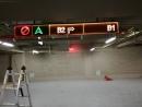 高雄國泰建設大樓停車場指示牌-LED燈壓克力雕刻希得紙-2