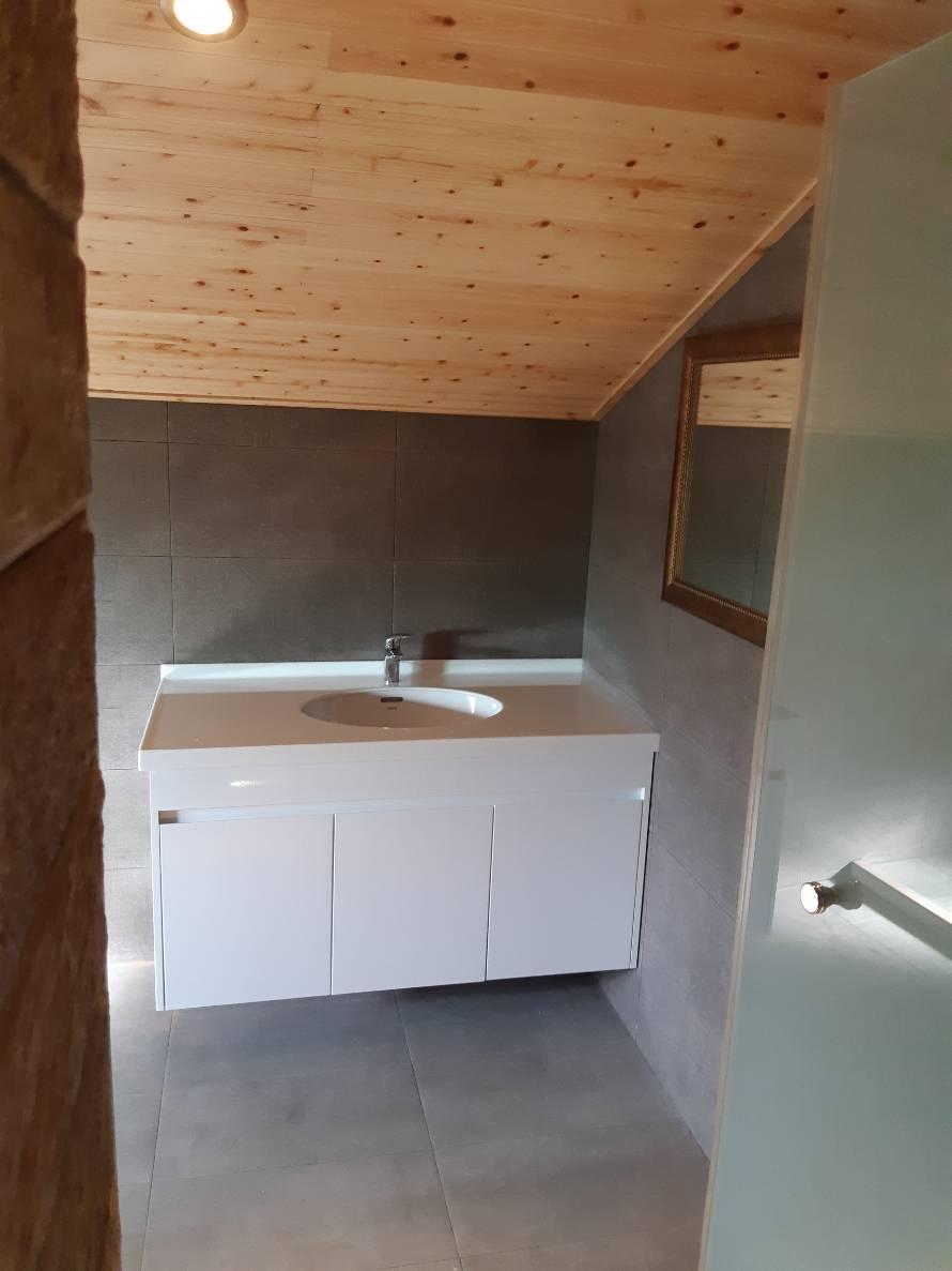 訂製人造石+訂製發泡板浴櫃+下嵌盆組-1