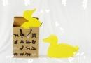 中型動物-黃色小鴨