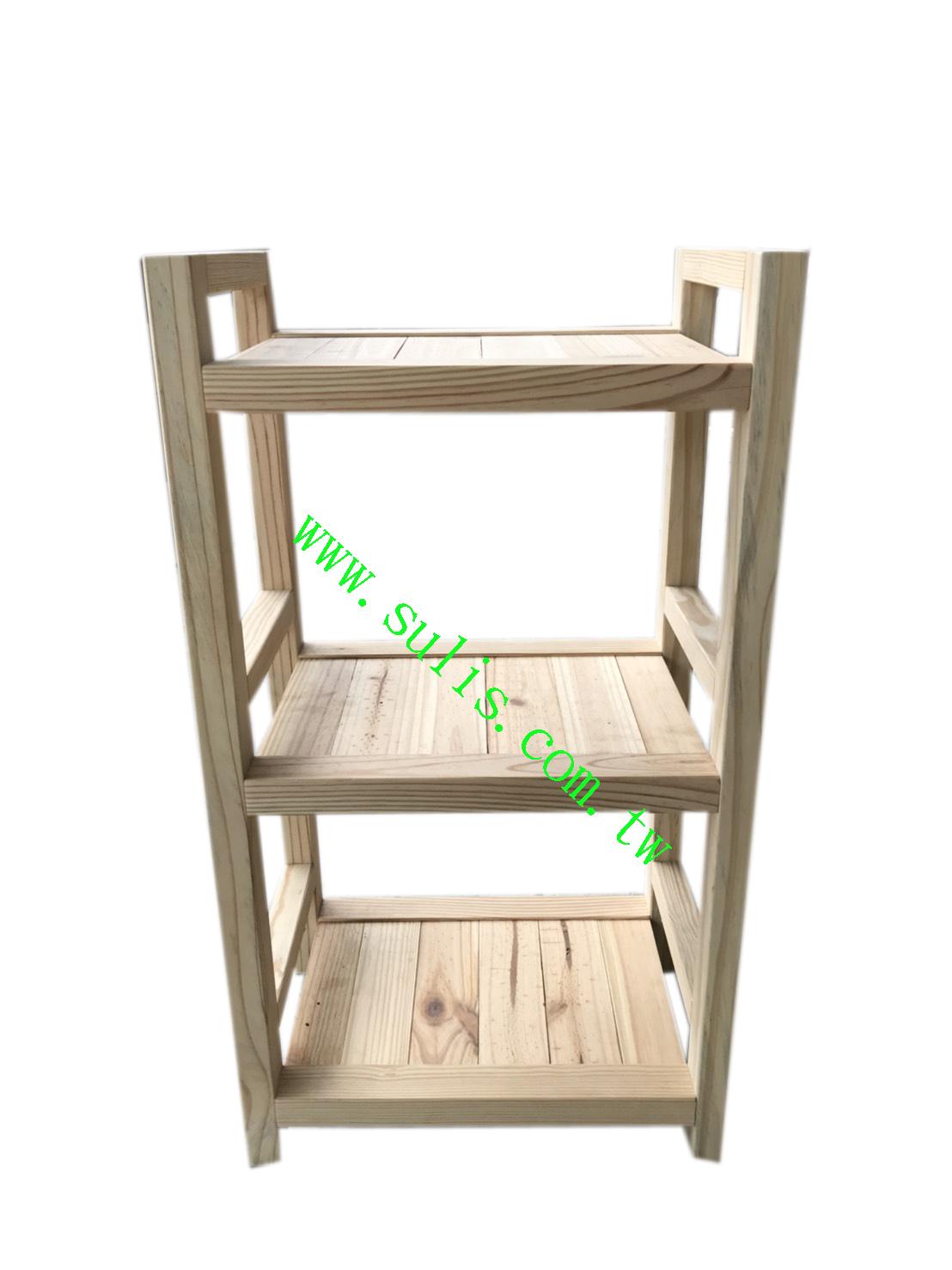 實木置物架(1.5尺)