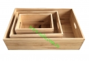 卡榫木箱-3入組