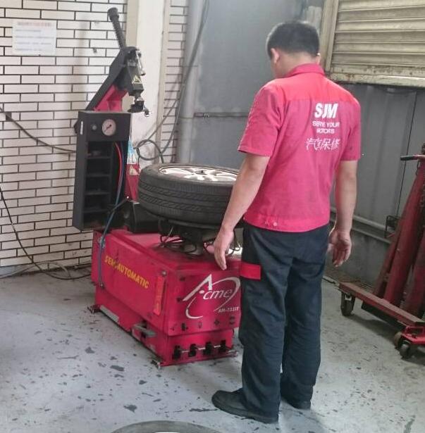 汽車輪胎配重儀器