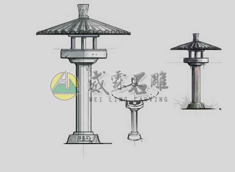 石燈,石擋-27