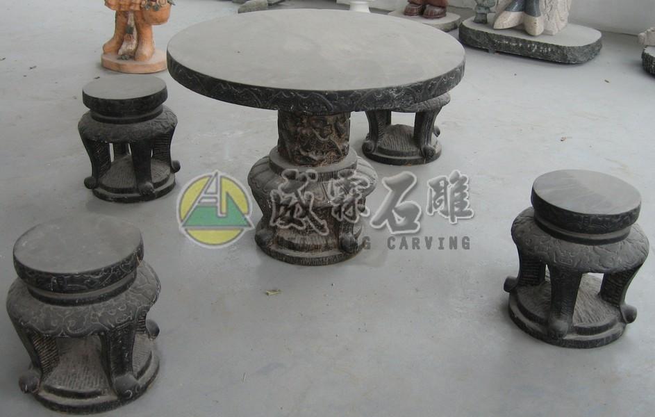 石桌,石椅-6