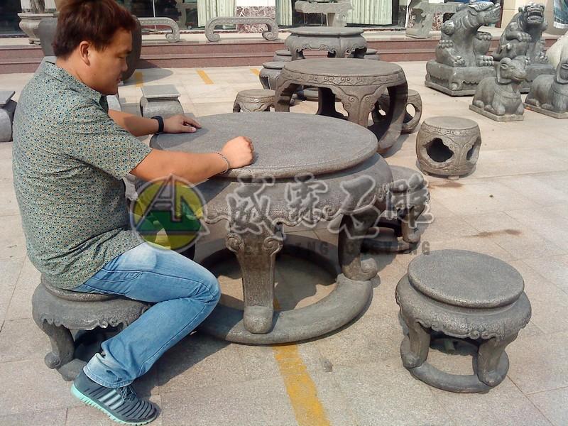 石桌,石椅-3