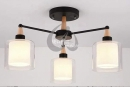 JA-C-00205-雙層玻璃吸頂燈-3燈