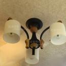 JA-C-00223-木頭圓筒罩吸頂燈-3燈