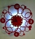 JA-B-00143-LED小夜燈時鐘壁燈-套圈-紅