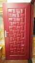 設計款不鏽鋼大門烤紅銅色