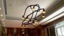 老闆設計不鏽鋼彎管藝術吊燈
