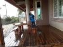 雲林縣虎尾鎮外牆南方松油漆高壓清洗,護木油噴漆,實木桌噴漆 (11)