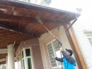 雲林縣虎尾鎮外牆南方松油漆高壓清洗,護木油噴漆,實木桌噴漆 (1)