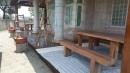 雲林縣虎尾鎮外牆南方松油漆高壓清洗,護木油噴漆,實木桌噴漆 (5)