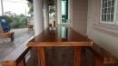 雲林縣虎尾鎮外牆南方松油漆高壓清洗,護木油噴漆,實木桌噴漆 (7)