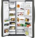 GSE25HMHES-獨立式消光灰對開冰箱