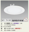 LED 15CM 12W 超薄崁燈