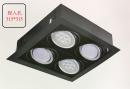 AR 有邊框盒燈/4燈黑