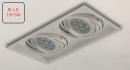 AR 細邊框盒燈/2燈白