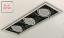 AR 細邊框盒燈/3燈