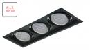 AR 細邊框盒燈/3燈黑