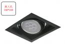 AR 細邊框盒燈/1燈黑