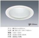 LED 20CM 12W 崁燈/玻璃