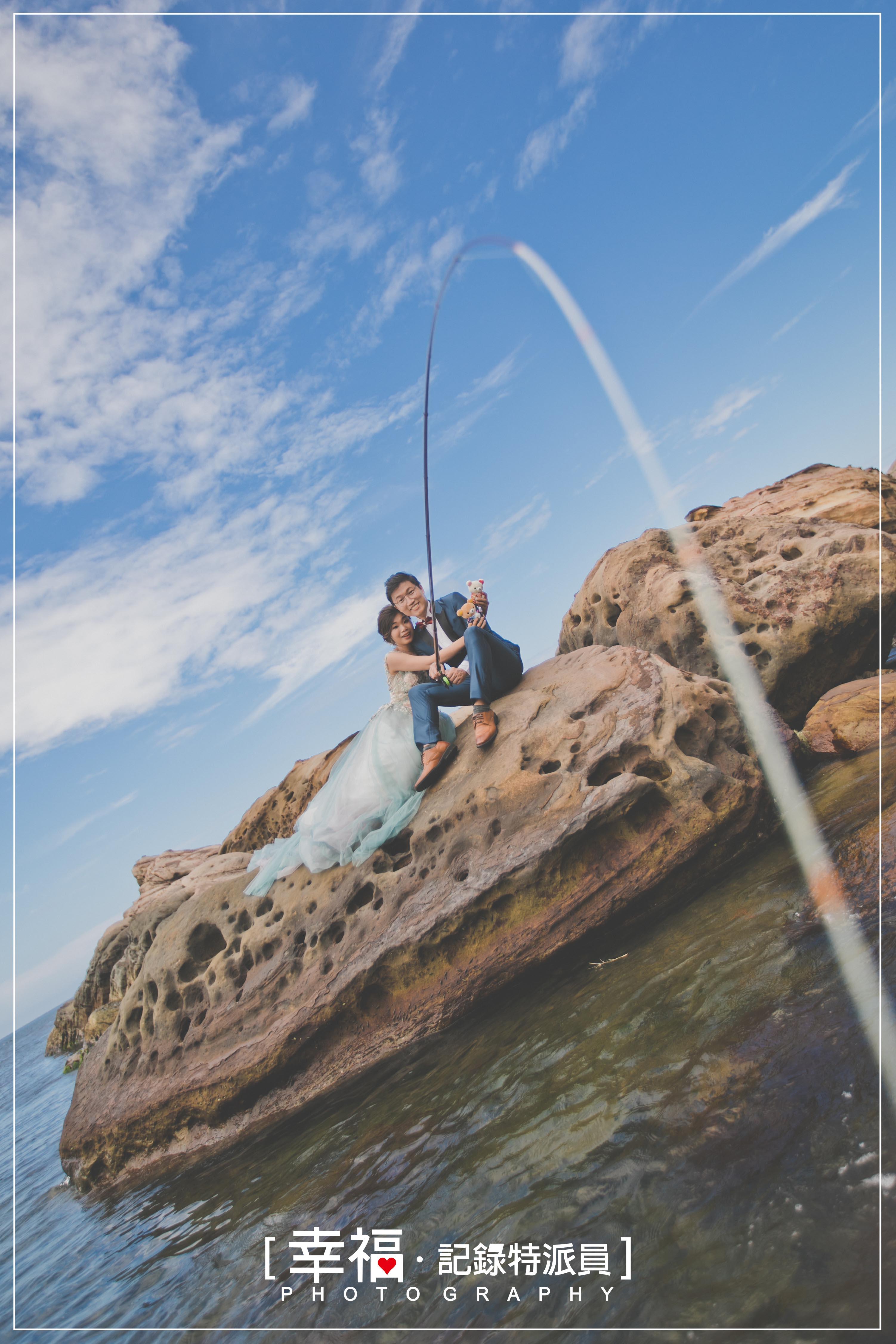 【婚紗攝影】南雅奇岩釣魚趣
