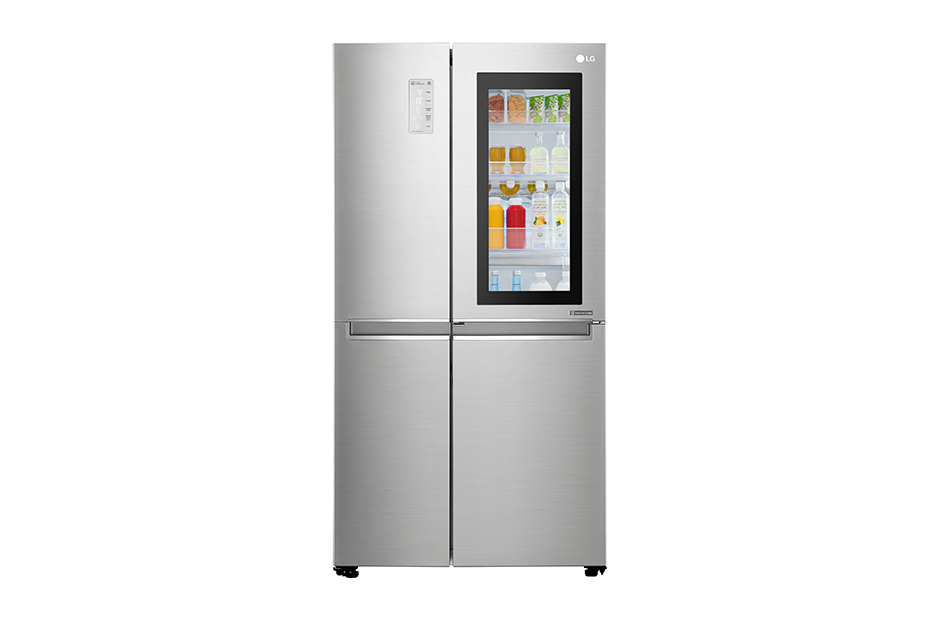 LG 敲敲看門中門冰箱 820L 樂金 星辰銀 電冰箱 GR-QL88N